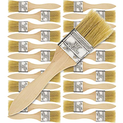 24 Pack of 1-1/2 inch Paint and Chip Paint Brushes