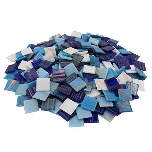 mosamare Piedras de mosaico (2 x 2 cm, 900 g, aprox. 340 unidades), multicolor
