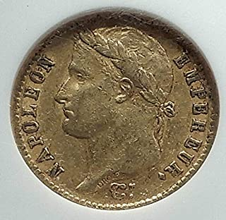 1813 FR 1813 FRANCE Napoleon Bonaparte 20 Francs Antique coin XF 45 NGC