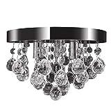 vidaXL Lámpara de Araña Colgante de Techo Elegante de 3 Luces Cristal y Metal