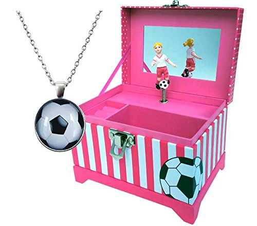 Just Like Me Soccer Player Musical Jewelry Box
