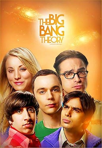 ACEYCYS 5D Diamond Painting Stickset, Filmplakat The Big Bang Theory Runder Kristall Strass Kreuzstich, Mosaik Raumdekoration Gemälde. 40 x 50 cm