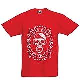 lepni.me Camiseta para Niño/Niña Viva rápido - muera último - Citas de Paseo en Bicicleta, Ropa de Motocicleta, Encanta Viajar, Gran Regalo para el Motorista (5-6 Years Rojo Multicolor)