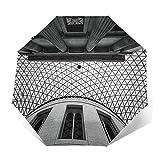 Paraguas Plegable Automático Impermeable Museo Británico de Londres, Paraguas De Viaje Compacto A Prueba De Viento, Folding Umbrella, Dosel Reforzado, Mango Ergonómico