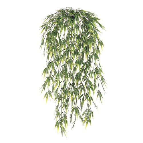 Six - Arbustos colgantes de hierba de bambú artificial, 29 pulgadas, sin maceta