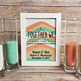 Wedding Candles - Candle Holders - Blended Family Sand Ceremony Set, Together We Make a Family Shadow Box Kit, Unity Candle, Blended Family Sand Frame with a Lid - Unity Candle Sand Set For Weddings
