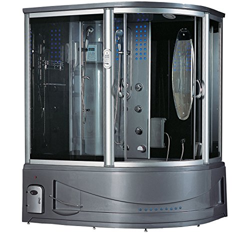 Best Review Of 2020 Sedona Luxury Computerized Steam Shower Sauna with Jetted Whirlpool Massage Bath...