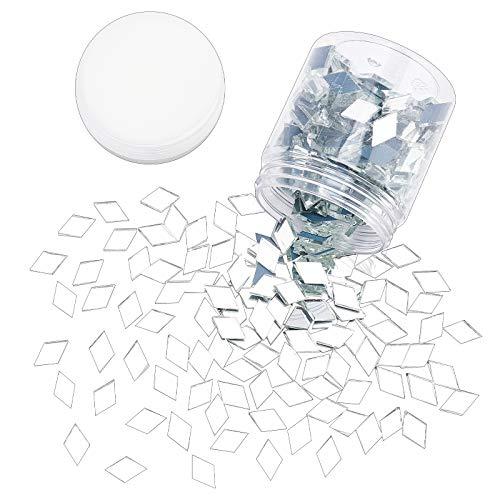 PandaHall 280 g transparente rombo cristal espejo azulejos m