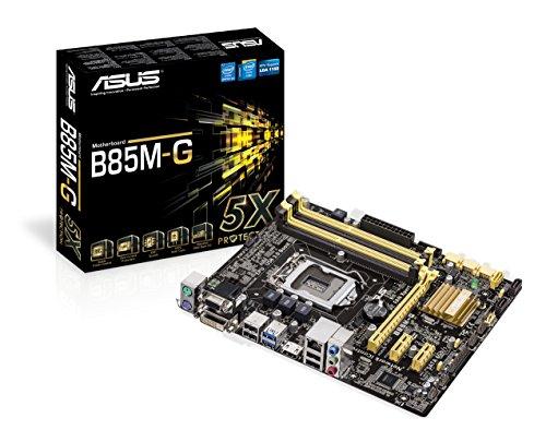 Asus B85M-G Mainboard Sockel 1150 (micro-ATX, Intel B85, DDR3 Speicher, SATA III)