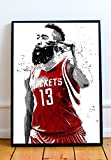 James Harden Limited Poster Artwork - Professional Wall Art Merchandise (More (8x10)