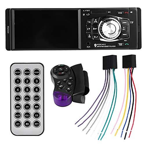 Qiilu Lettore MP5 per auto, 4.1 pollici Bluetooth Car Video FM Radio Telecomando volante USB AUX
