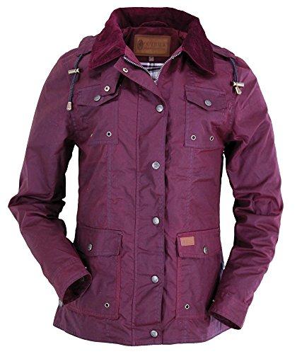 Outback Trading Co Women's Co. Jill-A-Roo Oilskin Jacket Berry Medium