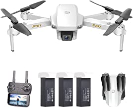 $72 » GoolRC S161 Mini Pro Drone, FPV Drone with 4K HD Camera, Foldable RC Quadcopter with Gesture Photos/Video, Follow Me, Altitude Hold, Track Flight, Include Storage Bag and 3 Batteries