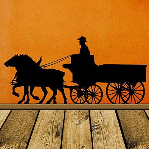 YuanMinglu Pioneer Pferd Dekoration LKW Alten westlichen westlichen wandtattoo bühnentrainer Denim Vinyl wandaufkleber Home Office Dekoration 133x63 cm