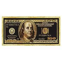 キャンバスにプリントゴールド100ドル札ポスターとプリントファッションウォールアートフロー画像キャンバス絵画リビングルームモダンな家の装飾70x140cmフレームなし