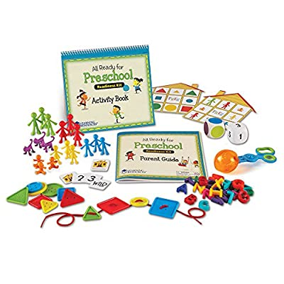 Learning Resources All Ready for Preschool Readiness Kit, Homeschool, Counting & Fine Motor Skills Toy, Ages 3+ from Learning Resources