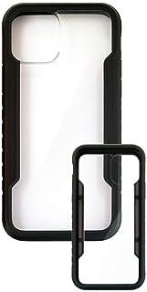 エアージェイ iPhone12/12Pro (6.1インチ,ブラック) 兼用 抗菌仕様 背面ケース ナノ銀 耐衝撃 アルミフレーム ポリカーボネート バックカバー ShockProof シンプル 大人 かっこいい スタイリッシュ 6.1インチ...