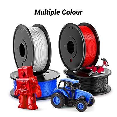 Labists 3D Printer Filament, 1.75mm PLA Filament, Plastic Printing Materials, 3D Printing Filament PLA for 3D printer 1kg 4 Reels for 4 Colors (Black, White, Blue,Red)