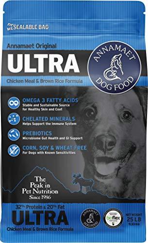Annamaet Original Ultra Formula Dry Dog Food, 32% Protein (Chicken & Brown Rice), 25-lb Bag