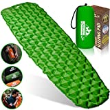 Outdoorsman Lab Sleeping Pad for Camping - Patented Camp Mat, Ultralight (14.5 Oz) - Best Compact Inflatable Air Mattress for Adults & Kids - Lightweight Hiking, Backpacking,Outdoor & Travel Gear