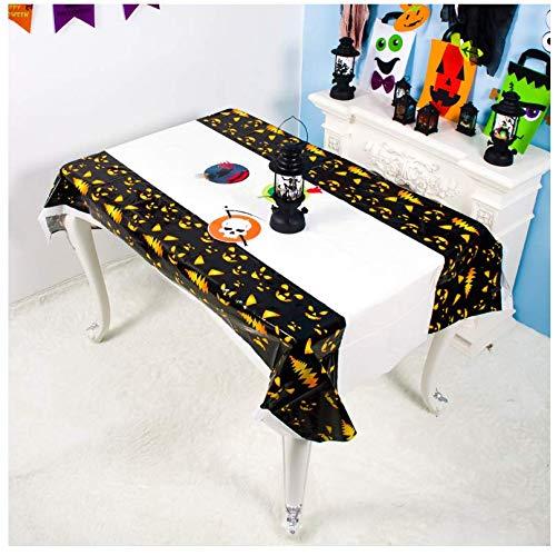 JDCFAS tafelkleed Halloween Spider rond mesh tafelkleed overdekte open haard tafel party decoratie rechthoekig thuis hotel textiel 140 cm x 200 cm