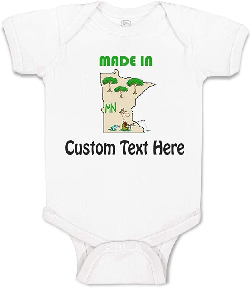 Custom Baby Bodysuit Made in Minnesota Funny Cotton Boy /& Girl Baby Clothes