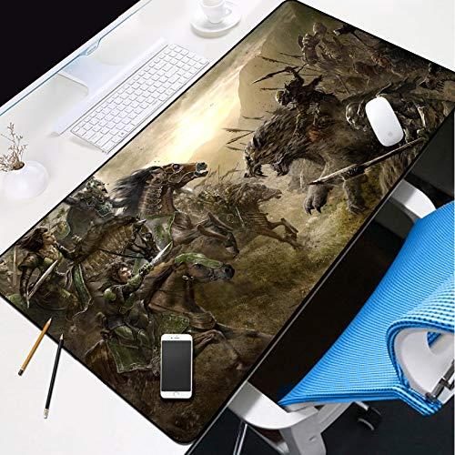 mauspad Motiv Mauspad Office Gaming 1200x600x3mm Römische Heldenkampfszene Mauspad Schreibtischunterlage Präzision Geschwindigkeit mit weicher Textiloberfläche und antistatischer Wirkung XXL Mousepad