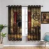 Pcglvie Cortina gótica para niños, cortinas de 99 cm de largo, cámara medieval para sala de estar o dormitorio, 137 x 96 cm
