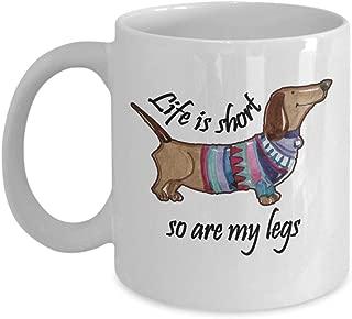 Weenie Dog Mug Funny Gag Gift Coffee Tea Cup White 11 oz