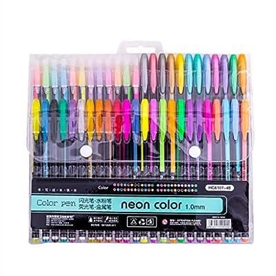 XLSTORE Color Glitter Gel Pen Set, Coloring Pen...