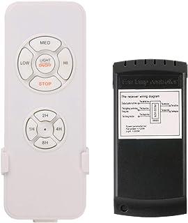 TOYANDONA Ventilador de Techo Universal Y Kit de Control Remoto de Luz Interruptor de Temporización Inteligente para Restaurante de Oficina de Hotel en Casa sin Batería