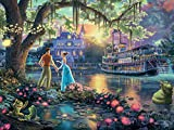 Ceaco 750 Piece Thomas Kinkade Disney Dreams - The Princess and The Frog Jigsaw Puzzle, Kids and Adults