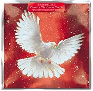 Pack of 6 Dove Of Peace Charity Christmas Cards Supports Multiple Charities