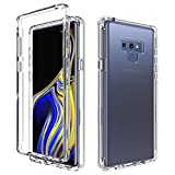 Almiao Coque pour Samsung Galaxy Note 9,Clear Body Hard PC + Soft Silicone TPU 2in1 Housse de Téléphone Antichoc pour Samsung Galaxy Note 9 (Transparent)