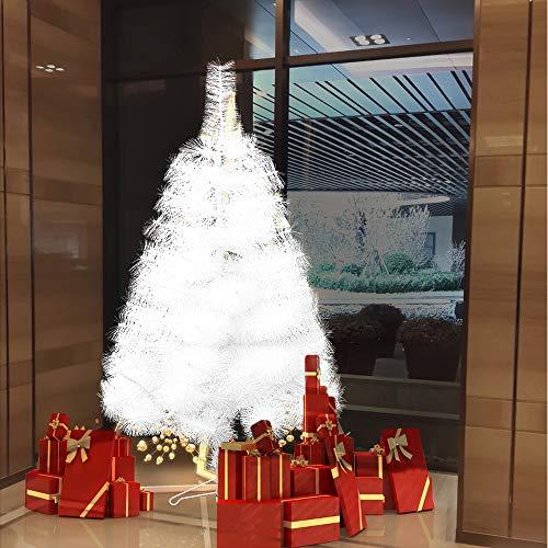 Froadp 210cm Árbol de Navidad Artificial con Soporte Estable y 312 Ramas de Simulación Tradicional para Navidad Decoración de Fiesta de Manualidades(Aiguille de Pin Blanco)