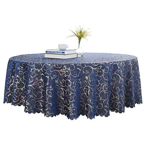 Dthlay PVC tafelkleed voor tuintafel rond hotel tafelkleed restaurant tafelkleed huishouden salontafelkleed retro blauw