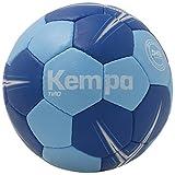 KEMPA - TIRO - Ballon Handball - Toucher Doux - Ballon de Match et d'Entrainement - bleu ciel clair/bleu roi