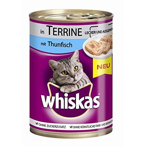 Whiskas Terrine mit Thunfisch | 12x 400g Katzennassfutter