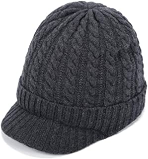 MTSL Hats for Women,100% Sheep Wool, Korean Sweet and Lovely Knit Hat, Autumn and Winter Warm Hat (Color : Gray)