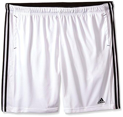adidas Performance Men's Essential Shorts, 3X-Large, White/Black/White