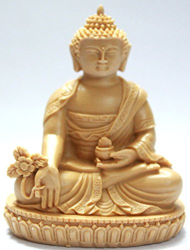Creativegifts Buddha Idol for Car Dashboard / Home / Office / Perfect Gift Item (2.5x1.5x1) Inch + Free Rudraksha Bracelet