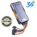 Toptellite Traceur GPS No Monthly Fee, Portable Track in Real-Time 3G GPS Tracking Device, Hardwired Location...