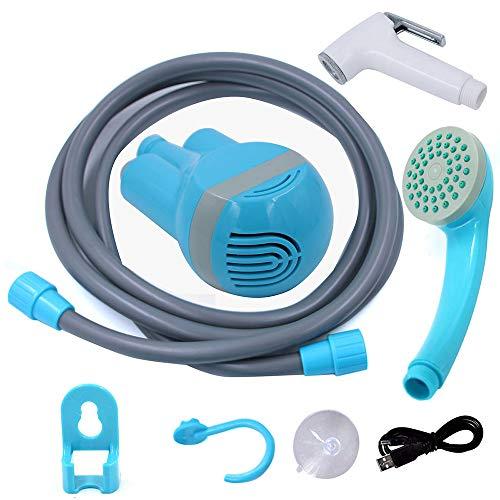 Festnight draagbare douche outdoor/indoor USB opladen handheld oplaadbare douchekoppomp voor camping reizen autowasstraat zwembad