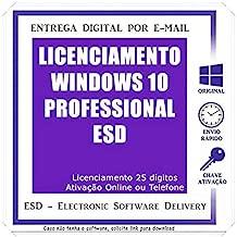MICROSOFT WINDOWS 10 PROFESSIONAL ESD - 32/64 BITS - (DOWNLOAD) + NOTA FISCAL