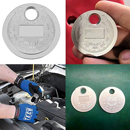 PiniceCore Gap Measurement Tool Adjustable Coin-Type 0.6-2.4mm Range Gage Engine Ignition System Accessories