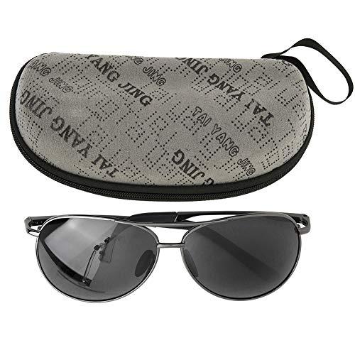 Freyla Gafas-Gafas de Sol polarizadas para Hombre TAC + Gafas de Metal Gafas de Sol de conducción con visión Nocturna 8013