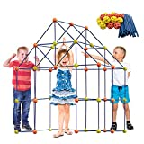 ERONE Fort Building Kit for Kids,158pcs Forts Construction Builder Gift Toys for Boys and Girls,Fort Building Set Play Tent Rocket Castle Indoor Outdoor