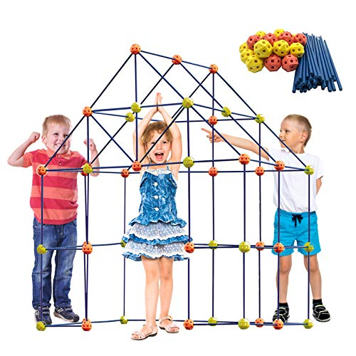 ERONE Fort Building Kit for Kids,158pcs Forts Construction Builder Gift Toys for Boys and Girls,Fort...