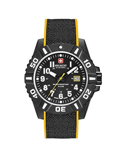 Swiss Military Herren Datum klassisch Quarz Uhr mit Silikon Armband 06-4309.17.007.79SM