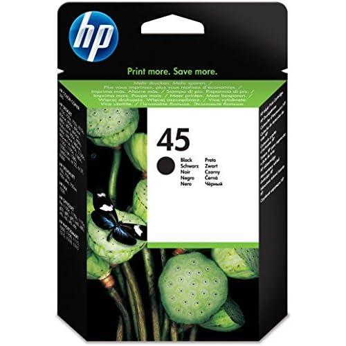 HP 45 51645AE Cartuccia Originale per Stampanti a Getto di Inchiostro, Compatibile con Deskjet 710c, 720c, 815c, 850c, 930, 980cXi, 1180c, 1215, Officejet T45, T65, G55M, Nero